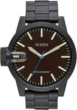 Nixon Chronicle SS All Black/Brown (A198712)