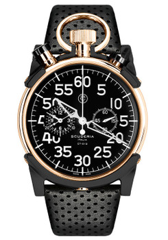 CT Scuderia Corsa Chronograph Black/Rose Gold