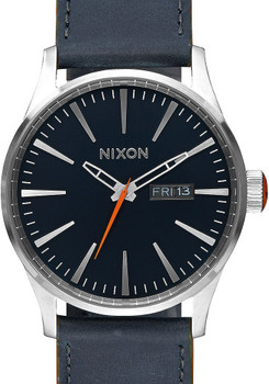Nixon Sentry Leather Blue/Orange (A105863)