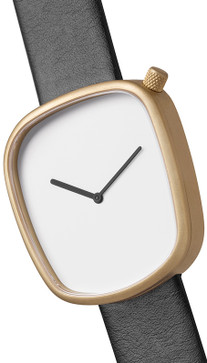 Bulbul Pebble 07 Matte Golden Steel / Black Italian Leather