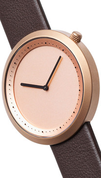 Bulbul Facette 03 Rose Gold / Brown Leather