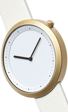 Bulbul Facette 04 Golden Steel / Cream White Leather