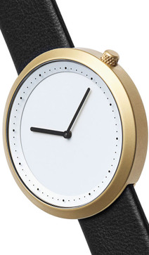 Bulbul Facette 06 Golden Steel / Black Leather