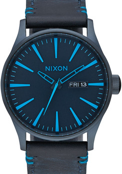 Nixon Sentry Leather All Dark Blue
