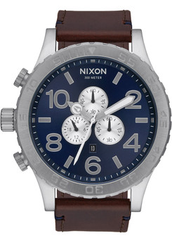 Nixon 51-30 Chrono Leather Blue Sunray/Brown