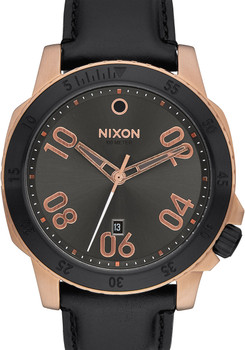 Nixon Ranger Leather Rose Gold/Gunmetal