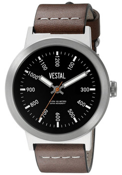 Vestal SLR3L001 The Retrofocus Brown Silver
