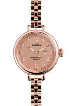 Shinola Birdy 34mm, Rose Gold Bracelet