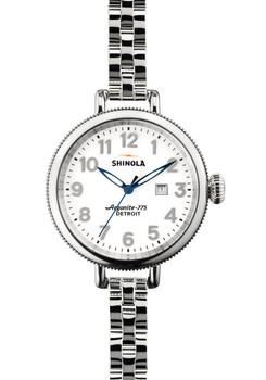 Shinola Birdy 34mm, Silver Bracelet