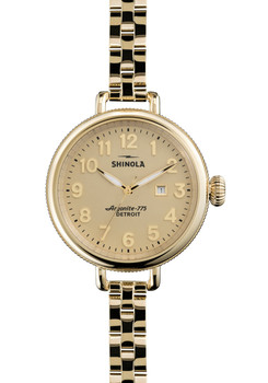 Shinola Birdy 34mm, Yellow Gold Bracelet