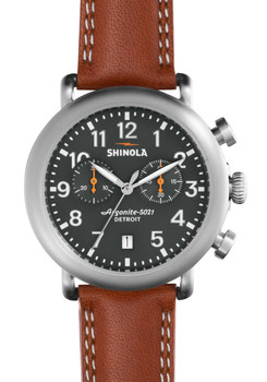 Shinola Runwell Chrono 41mm, Chicago Tan Strap