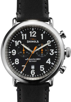 Shinola Runwell Chrono 47mm, Black Leather (S0110000051)