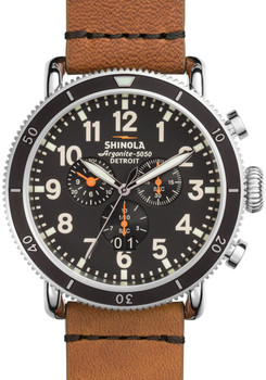 Shinola Runwell Sport Chrono 48mm, Tan Strap Main
