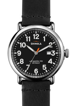 Shinola Runwell w/ Date 41mm, Black Leather Strap main