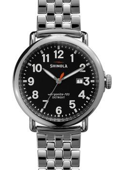 Shinola Runwell w/ Date 41mm, Silver Bracelet main