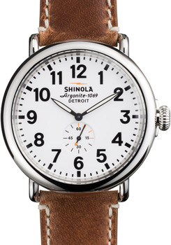 Shinola Runwell 47mm, White Dial, Natural Strap main