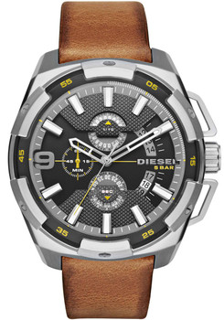 Diesel Watch DZ4393 Heavyweight Chrono Leather Brown Main