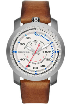 Diesel Watch DZ1749 RIG Leather Brown Silver Main