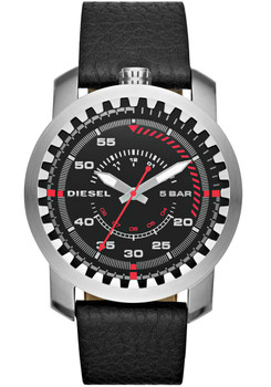 Diesel Watch DZ1750 RIG Leather Black Main