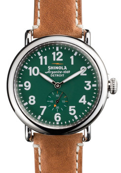 Shinola Runwell 41mm Green Brown Leather (S0110000026)