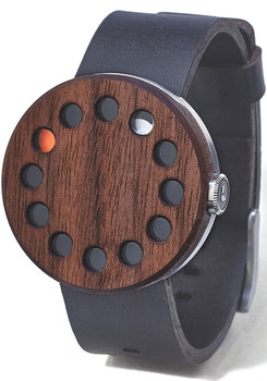 Grovemade Round Walnut Wood Watch
