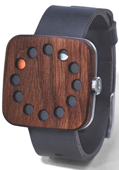 Grovemade Square Walnut Wood Watch
