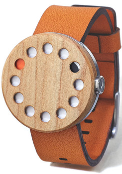 Grovemade Round Maple Wood Watch