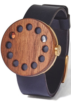 Grovemade Round Gold Walnut Special Edition Watch