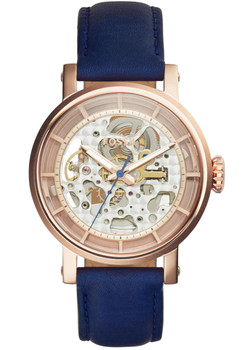 Fossil ME3086 Original Boyfriend Automatic Navy Leather Watch