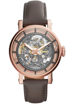 Fossil ME3089 Boyfriend Automatic Gray Leather Watch