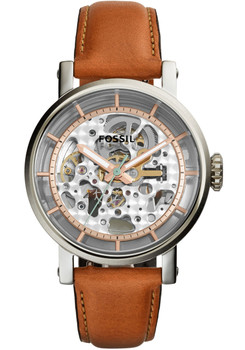 Fossil ME3109 Boyfriend Automatic Brown Leather Watch