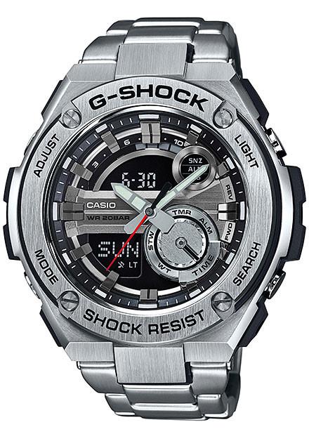 Casio G-Shock GST210D-1A G-Steel Silver