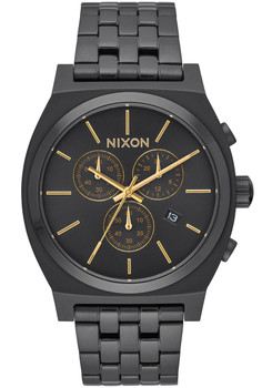 Nixon Time Teller Chrono All Black Gold (A9721031)