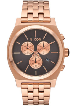 Nixon Time Teller Chrono All Rose Gold Gray (A9722046)