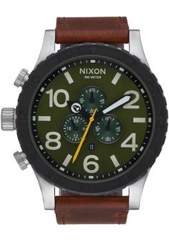 Nixon 51-30 Chrono Leather Surplus Brown (A1242334)