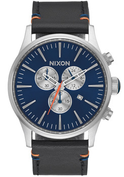 Nixon Sentry Chrono Leather Blue Sunray (A4051258)