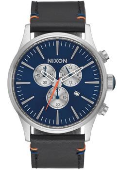 Nixon Sentry Chrono Leather Blue Sunray (A4051258)