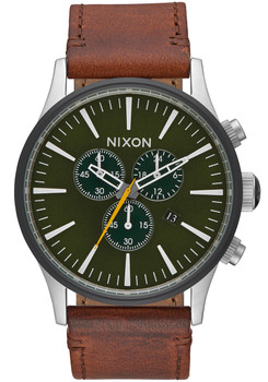 Nixon Sentry Chrono Leather Surplus Brown