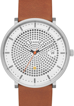 Skagen SKW6277 Hald Solar Brown Leather Watch (SKW6277)