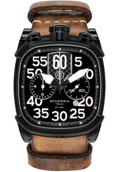 CT Scuderia Scrambler Black Tan NATO Watch (CS70105N)