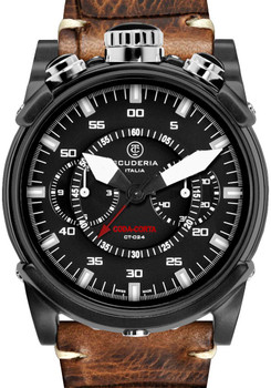 CT Scuderia Coda Corta Chrono Vintage Leather Watch