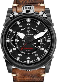 CT Scuderia Coda Corta Chrono Vintage Leather Watch