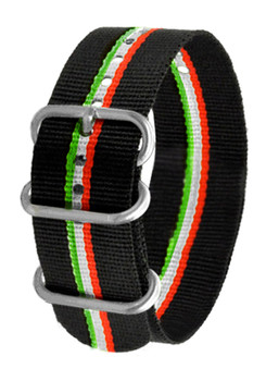 CT Scuderia 26mm NATO Black with Italia Stripes