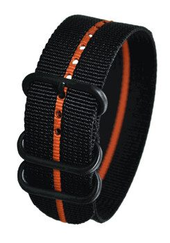 CT Scuderia 26mm NATO Black with Orange Stripe