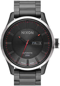 Nixon Automatic II All Black Red Watch