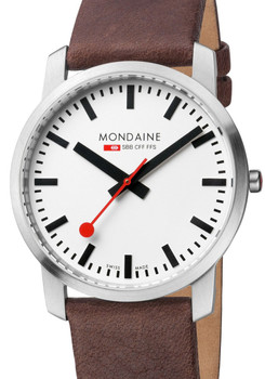 Mondaine Ultra Thin Men's Brown Watch (A638-30350-11SBG)