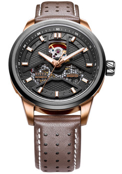 Fiyta Roadster Automatic Skeleton Rose Gold Brown (GA866002.MBR)