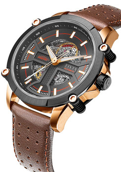 Fiyta Extreme Roadster Automatic Skeleton Rose Gold Brown (WGA866001.MBR)