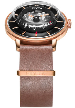 Fiyta 3D-Time Skeleton Automatic Rose Gold Brown (WGA868000.PBR)