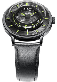 Fiyta 3D-Time Skeleton Automatic Black Green (WGA868002.BBB)